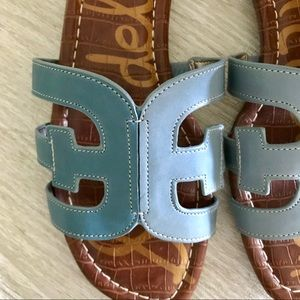 Sam Edelman Shoes - SAM EDELMAN Blue Leather Bay Sandals